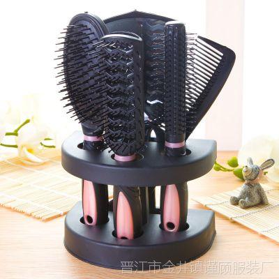 打复古风拉毛可女童梳子卷发梳直卷两用长发直发复古尺黑清理小拉