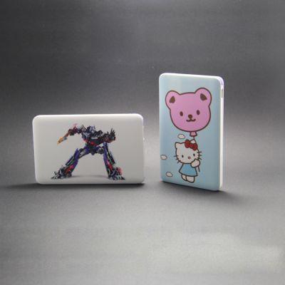 厂家直销 2500MAH小卡片充电宝 彩绘礼品定制移动电源 手机通用性
