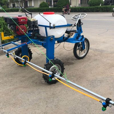 启航三缸柱塞泵高压机动喷雾器 风送式打药机 果树喷药喷雾器