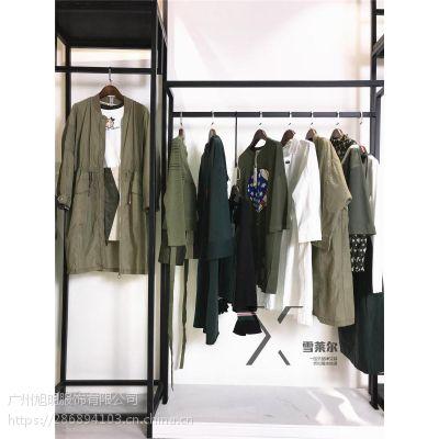 广州品牌女装折扣店古诺尔春装上衣库存服装批发