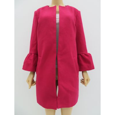 秋冬女士时尚气质长袖披风,中长款开衫外套