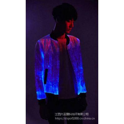 智能光纤发光衣服 发光光纤男女衣服发光晚会礼服时装光纤炫酷发光夜光衣服
