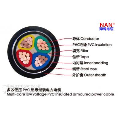 广州南洋电缆厂家供应VV22-4*95系列铠装电力电缆,NAN 南牌荣誉出品!