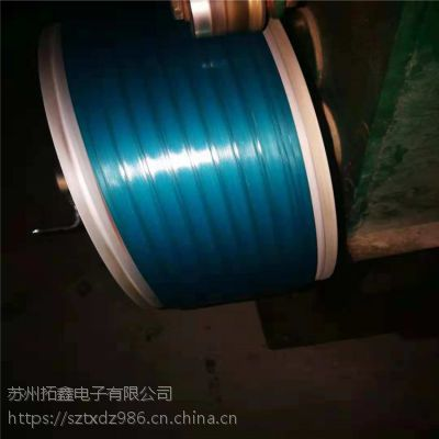 厂家直销PET塑钢带 彩色光面压花抗拉力强打包带 板材木业厂专用打包带