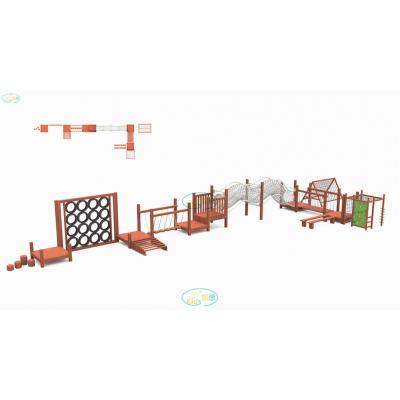 儿童户外攀爬网攀爬架木质拓展训练游乐设备原生态木质滑梯酒店度假村非标定制可加工定做