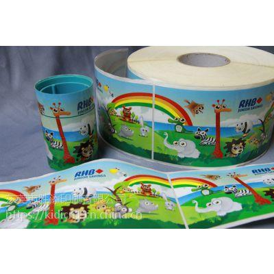 动漫卡通玩具标签 彩色不干胶标签 来图免费设计 粘性好