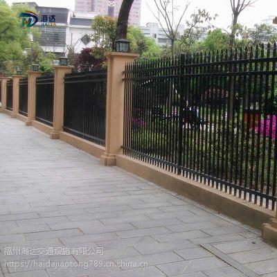 热销锌钢护栏 别墅庭院围墙护栏 厂区护栏可提供安装