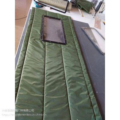 大城朗利洁厂家生产公共建筑棉门帘/防寒保暖/加工定做