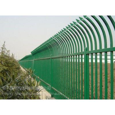 双弯头金属围墙 尖头金属围墙 双尖头铁栏杆围墙