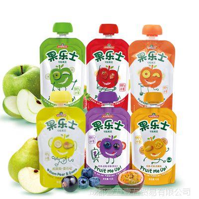 果乐士 苹果可吸果泥90g 休闲食品 果味饮料 食品批发 量大可议价