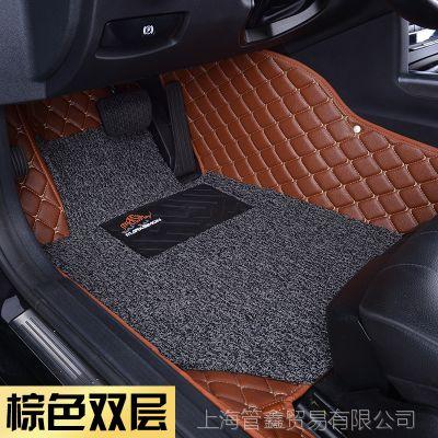 皮革丝圈双层汽车脚垫大包围防滑完美服帖 适用于奥迪A4L专车专用