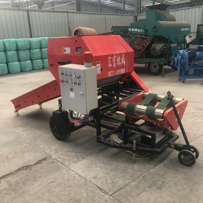 青贮饲料包膜机哪里卖 享受农补的全自动青贮打捆包膜机多少钱