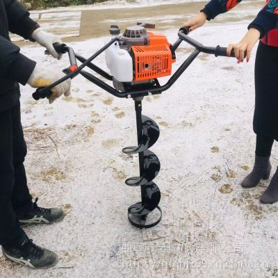 拖拉机配套挖坑机 大马力植树钻眼机品牌 启航螺旋钻头挖坑机