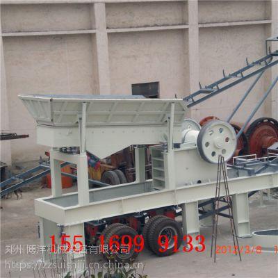 时产100吨泰安花岗岩移动破碎机 移动式磕石机 流动碎石子机都包括什么