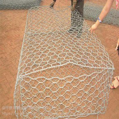 海滨防御工程笼网 格宾挡土墙 石笼网道路防护