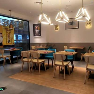 台湾美食小吃店家具定制,时尚休闲餐桌椅子组合效果
