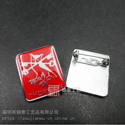 外贸徽章定制-外贸金属徽章制作-国外胸针定做
