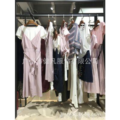 【布石】19年新款夏杭州品牌折扣库存女装厂家一手货源走份批发