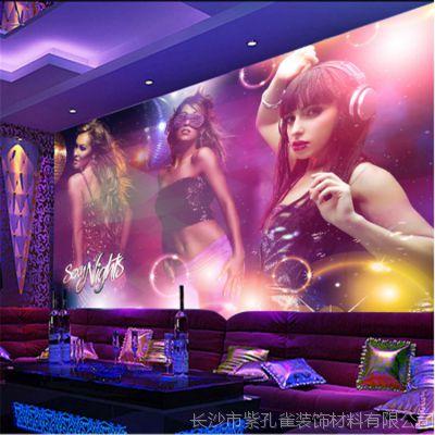 工厂直销KTV装饰墙纸 欧美比基尼美女酒吧夜店墙画 情侣酒店壁纸