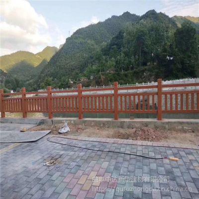 苏州厂家批发仿木栏杆真实质感耐腐蚀耐虫蛀 水泥仿树皮栅栏栏杆