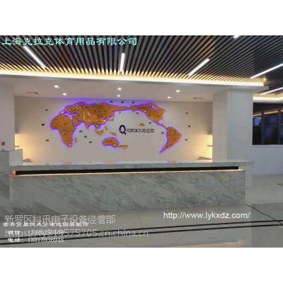 2019新一代公司大厅前台形象墙装饰 KXDZ世界网点分布地图屏