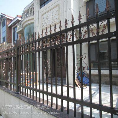 工业园外墙护栏 产业基地围墙护栏 铁艺隔离栅栏厂家