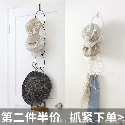 衣柜整理收纳架创意门后免钉墙壁挂钩多功能衣服包帽子围巾领