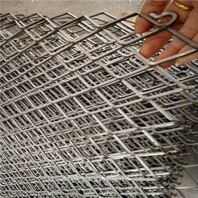建筑平台重型钢板网 菱形钢竹笆规格 万泰钢板网现货