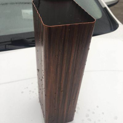 上海咖啡色铝合金方形外墙雨水管