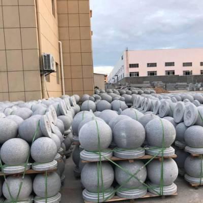 厂家批发直径300 400 500mm大理石路障石球小区拦路圆球广场隔离拦路石
