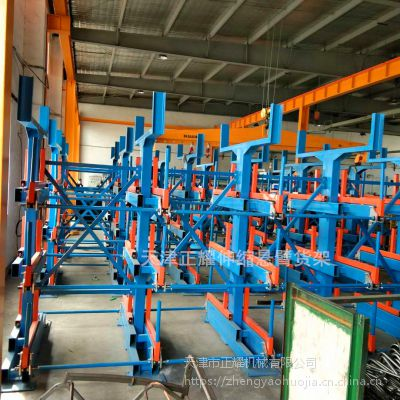 常州钢管货架特点 伸缩悬臂货架尺寸 专业放型材的架子