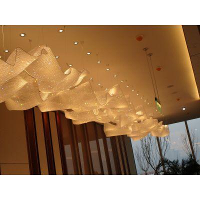 润林泉制酒店工程非标LED吊灯豪华水晶灯