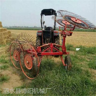 博阳直销双侧圆盘搂草机 养殖饲料秸秆搂草机供应