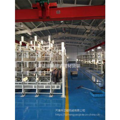广东重型钢管货架 悬臂伸缩货架价格 管材存放架