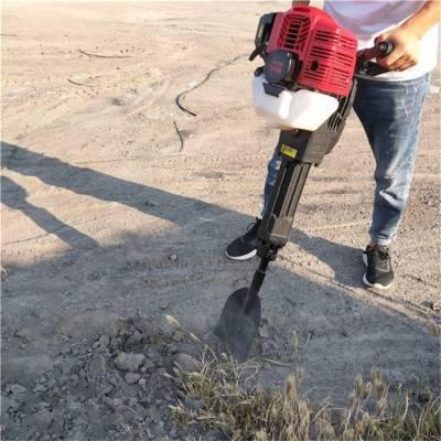 操作轻便型挖树机 手提链条式挖树起苗机润丰