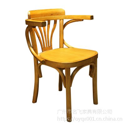 麦德嘉MDJ-SM09主题餐厅椅子 美式实木餐椅 咖啡厅清吧座椅