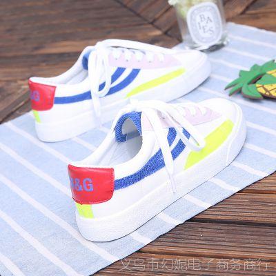 名将帆布鞋女秋季新款百搭韩版ulzzang学生休闲板鞋硫化鞋MJ0666