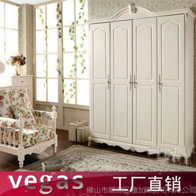 欧式田园风格推拉门衣柜 两门移门衣柜 颜色款式可定制出口