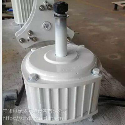 山东晟成直销稀土永磁微风启动水平轴小型风力发电机300w路灯监控用家用