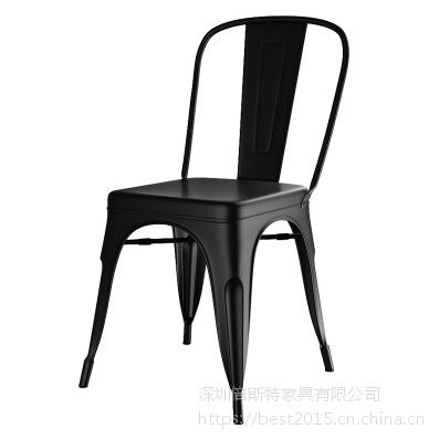 倍斯特美式乡村复古工业风金属餐椅创意主题音乐餐厅湘菜厂家定制
