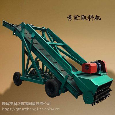 牛场喂料重要设备取料机 蓬莱自走式刮料机 养殖取料机械厂家