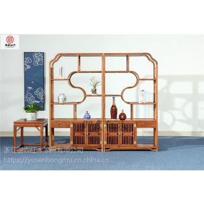 刺猬紫檀书柜-新中式家具-非洲花梨木家具-实木古典中式