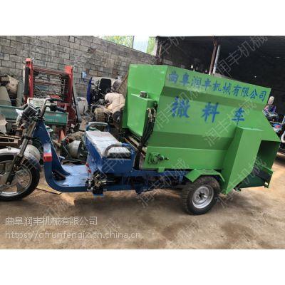 牛场饲料倒料机 自动进料撒料车 生产销售一体撒料车润丰