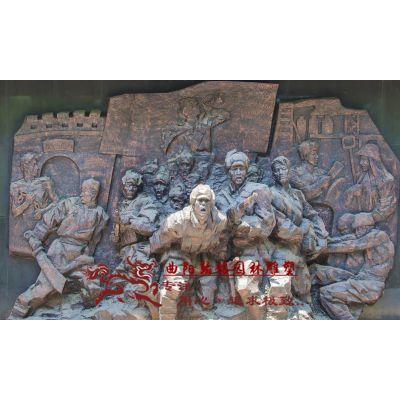 曲阳石雕翰铭 石雕革命红军战士抗日胜利欢庆人物雕塑园林广场景观浮雕雕塑