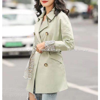 时尚大码女装品牌慕引秋季潮流风衣淘宝直播货源