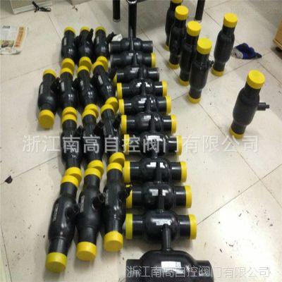 Q61F-16C 碳钢一体式全焊接球阀 手柄手动对焊球阀