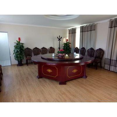 厂家订制电动餐桌椅 现代中式电动大圆桌食堂包厢圆桌面宴会饭店宾馆酒店椅子
