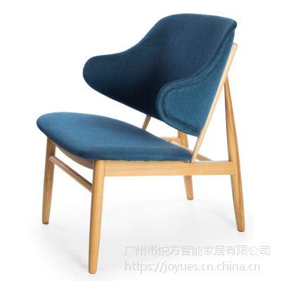 现代木制丝绒躺椅餐厅的椅子