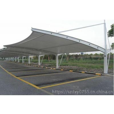 惠州停车棚_膜结构停车棚_阳光板停车棚实体厂家