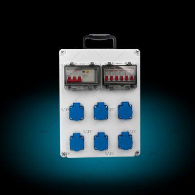 插座防水配电箱220V/380V 10~16A电力检修箱 插座箱 手提挂墙两用
